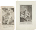 Political:Small Paper (pre-1896), Wilkes and Hancock: Revolutionary War Era Engravings.... (Total: 2 Items)