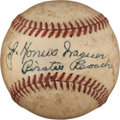 Autographs:Baseballs, Early 1940's Honus Wagner Single Signed Baseball....