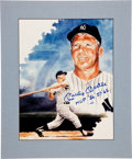 "Autographs:Photos, Circa 1990 Mickey Mantle ""MVP 56, 57, 62"" Signed LargePhotograph...."