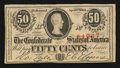 Confederate Notes:1863 Issues, T63 50 Cents 1863.. ...