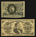 Fractional Currency:Second Issue, Fr. 1232 5¢ Second Issue About New. Fr. 1294 25¢ Third Issue Very Fine-Extremely Fine.. ... (Total: 2 notes)