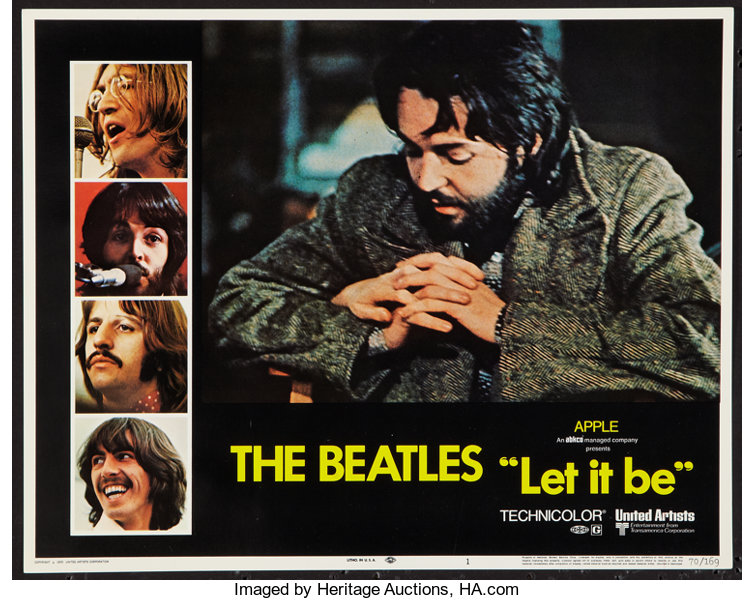 "Movie Posters:Rock and Roll, Let It Be (United Artists, 1970). Lobby Card (11"" X 14""). Rock and Roll.. ..."