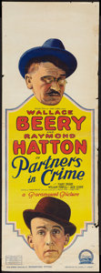 """Movie Posters:Comedy, Partners in Crime (Paramount, 1928). Pre-War Australian Daybill (14.5"""" X 40""""). Comedy.. ..."""