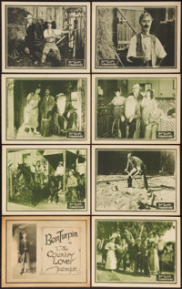 "The Country Lover (Mutual, R-1920s). Lobby Card Set of 8 (11"" X 14""). Comedy. Formerly Titled: Jealous Jolts..."