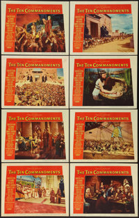 "The Ten Commandments (Paramount, 1956). Lobby Card Set of 8 (11"" X 14""). Drama. ... (Total: 8 Items)"