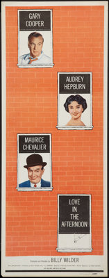 """Love in the Afternoon (Allied Artists, 1957). Insert (14"""" X 36""""). Romance"""