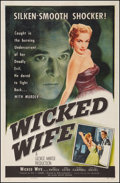 """Movie Posters:Crime, Wicked Wife (Allied Artists, 1955). One Sheet (27"""" X 41""""). Crime....."""