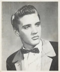 Music Memorabilia:Photos, An Elvis Presley Signed Black and White Photograph, Circa1954-1955....