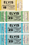 Music Memorabilia:Tickets, Elvis Presley Concert Ticket Group (1977).... (Total: 4 Items)
