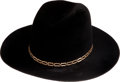 Music Memorabilia:Costumes, Elvis Presley Gifted Hat to Jack Lord, Circa 1973....