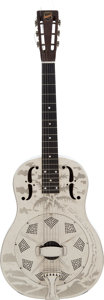 "Music Memorabilia:Autographs and Signed Items, Elvis Presley Played and Signed National Style ""O"" Model Resonator Guitar, Serial Number S5245 (1934). ..."