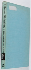 Books:Reference & Bibliography, [Books About Books]. William Merritt Sale. Samuel Richardson: ABibliographical Record. Yale, 1936. First editio...
