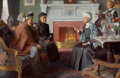 Paintings, GRISWOLD TYNG (American, 1883-1960). Parlor Scene, 1911. Oil on canvas. 20 x 30 in.. Signed lower right. ...