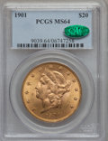 Liberty Double Eagles, 1901 $20 MS64 PCGS. CAC....