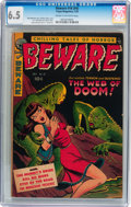 Golden Age (1938-1955):Horror, Beware #16 (#4) (Trojan/Prime, 1953) CGC FN+ 6.5 Cream to off-whitepages....