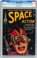 Golden Age (1938-1955):Science Fiction, Space Action #2 (Ace, 1952) CGC FN+ 6.5 Cream to off-whitepages....