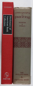 Books:Books about Books, [Books About Books]. Two Bibliographies, including: F. C. Bigmoreand C. W. H. Wyman. A Bibliography of Printing [... (Total:2 Items)