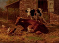 Fine Art - Painting, American, THOMAS BIGELOW CRAIG (American, 1849-1924). In the Farmyard,1902. Oil on canvas . 10 x 14 inches (25.4 x 35.6 cm). Sign...