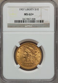 Liberty Eagles: , 1907 $10 MS62+ NGC. NGC Census: (9688/6832). PCGS Population(6735/4035). Mintage: 1,203,973. Numismedia Wsl. Price for pro...