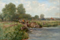 Fine Art - Painting, Russian, HENRY JOHN YEEND KING (British, 1855-1924). The River Thames atPangbourne, Berkshire. Oil on canvas. 20-1/4 x 30 inches...