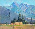 Fine Art - Painting, American:Contemporary   (1950 to present)  , ROBERT ATWOOD (American, 1892-1970). Mountain Landscape,1957. Oil on canvas. 29-1/2 x 36 inches (74.9 x 91.4 cm). Signe...