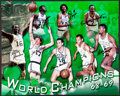 Basketball Collectibles:Photos, 1968-69 Boston Celtics Team Signed Oversized Photograph....