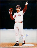 Baseball Collectibles:Others, Pete Rose and Ken Griffey Jr. Signed Memorabilia Lot of 2....