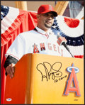 """Baseball Collectibles:Photos, Albert Pujols """"12-10-11"""" Signed Oversized Los Angeles Angels Photograph. ..."""