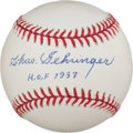 "Baseball Collectibles:Balls, Charles Gehringer ""H.O.F. 1937"" Single Signed Baseball...."