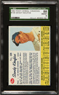 Baseball Cards:Singles (1960-1969), 1962 Post Cereal Canadian Sandy Koufax #109 SGC 88 NM/MT 8....
