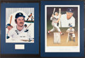 Baseball Collectibles:Others, Thurmon Munson and Johnny Mize Signed Displays Lot of 2....