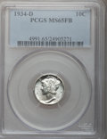 Mercury Dimes: , 1934-D 10C MS65 Full Bands PCGS. PCGS Population (267/160). NGCCensus: (72/37). Mintage: 6,772,000. Numismedia Wsl. Price ...