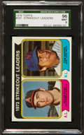 Baseball Cards:Singles (1970-Now), 1974 Topps Ryan & Seaver Strikeout Leaders #207 SGC 96 Mint 9....