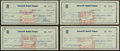 Baseball Collectibles:Others, 1959-60 Bill Terry Signed Checks Lot of 4....