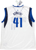 Basketball Collectibles:Uniforms, Dirk Nowitzki Signed Dallas Mavericks Jersey....