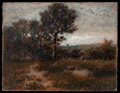 Fine Art - Painting, American:Other, ALEXANDER HELWIG WYANT (American, 1836-1892). A Dewy Morn.Oil on canvas. 12 x 15-1/2 inches (30.5 x 39.4 cm). ...