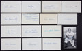 Baseball Collectibles:Others, Baseball Greats Signed Index Cards Lot of 15....