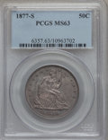 Seated Half Dollars: , 1877-S 50C MS63 PCGS. PCGS Population (77/114). NGC Census:(73/135). Mintage: 5,356,000. Numismedia Wsl. Price for problem...