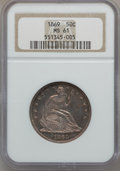 Seated Half Dollars: , 1869 50C MS61 NGC. NGC Census: (9/27). PCGS Population (9/44).Mintage: 795,300. Numismedia Wsl. Price for problem free NGC...