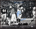 Football Collectibles:Photos, Chuck Bednarik Signed Oversized Photo With Lengthy Inscription....