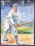 Baseball Collectibles:Others, Mel Ott Original Painting....