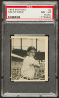 Baseball Cards:Singles (1940-1949), 1948 Bowman Ralph Kiner #3 PSA NM-MT 8(MC)....
