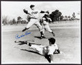 Autographs:Photos, Pee Wee Reese Signed Oversized Photograph....