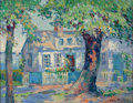 Fine Art - Painting, American:Modern  (1900 1949)  , ILAH MARIAN KIBBEY (American, 1888-1958). House inGloucester. Oil on canvas laid on masonite. 14 x 18 inches(35.6 x 45...