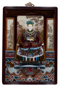 Asian:Chinese, CHINESE SCHOOL (20th Century). Pair: Portraits of ChineseEmperors. Mixed media on board. 25-1/2 x 17 inches (64.8 x43.... (Total: 2 Items)