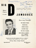 Music Memorabilia:Autographs and Signed Items, Elvis Presley Signed Big D Jamboree Program (1955)....