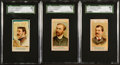 "Non-Sport Cards:Lots, 1887 Allen & Ginter N1 ""American Editors"" SGC-Graded Trio (3)...."