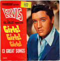 Music Memorabilia:Autographs and Signed Items, Elvis Presley Signed Girls! Girls! Girls! LP. . ...