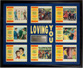 "Music Memorabilia:Posters, Elvis Presley Related - A Set of Lobby Cards from ""Loving You.""..."