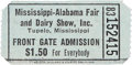 Music Memorabilia:Tickets, Elvis Presley Concert Ticket from the Mississippi-Alabama Fair and Dairy Show, 1956....
